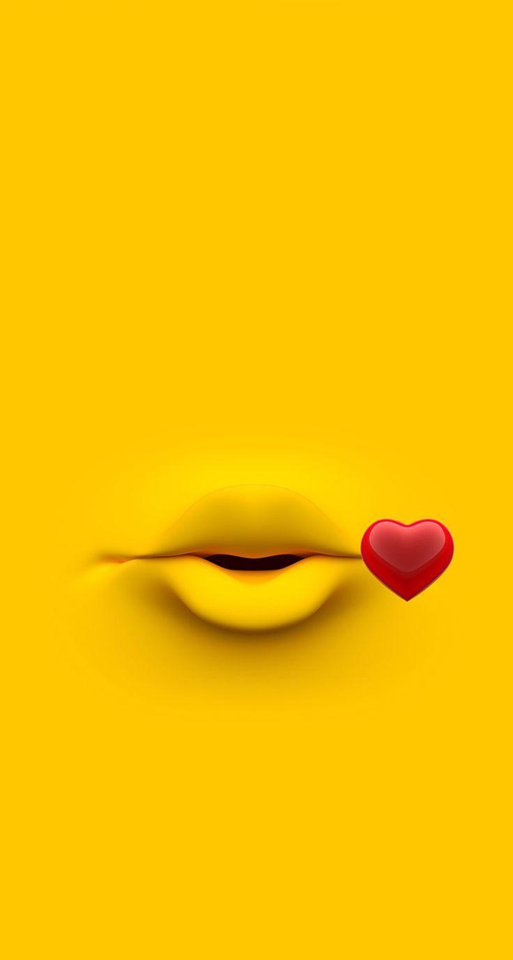 Emoji kiss wallpaper #wallpaper #3d #iphonewallpaper - Wallpaper World