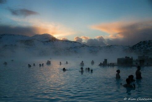 Relaxing in the Blue Lagoon