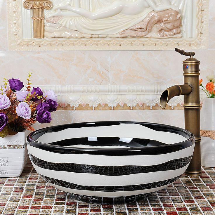 Европейский мозаика mail art мыть бассейна-раковины бассейна мойка бассейна мойка бассейнов этап черно-белые линии