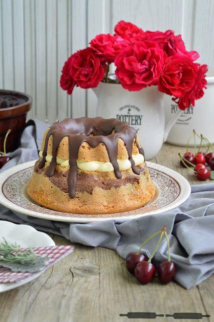 Donauwellen Gugelhupf mit Puddingcreme / Donauwellen Bundt Cake
