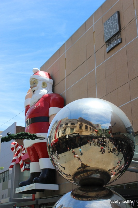 'Christmas in the Mall, Adelaide' written by pinner other than riawati • the mall's balls •  Rundle Street Mall • Adelaide icon