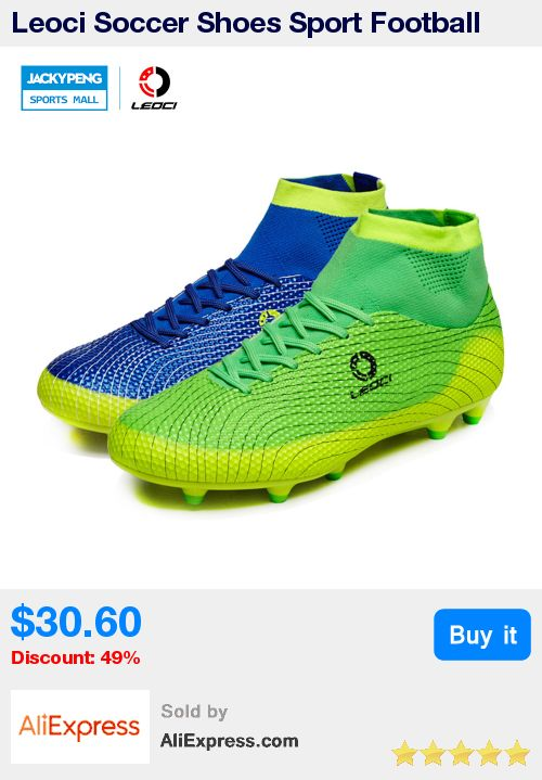 Leoci Soccer Shoes Sport Football Shoes   Men Soccer Shoes Boys Kids Soccer Cleats F High Ankle Football Shoes Soccer Boots * Pub Date: 00:23 Jun 29 2017