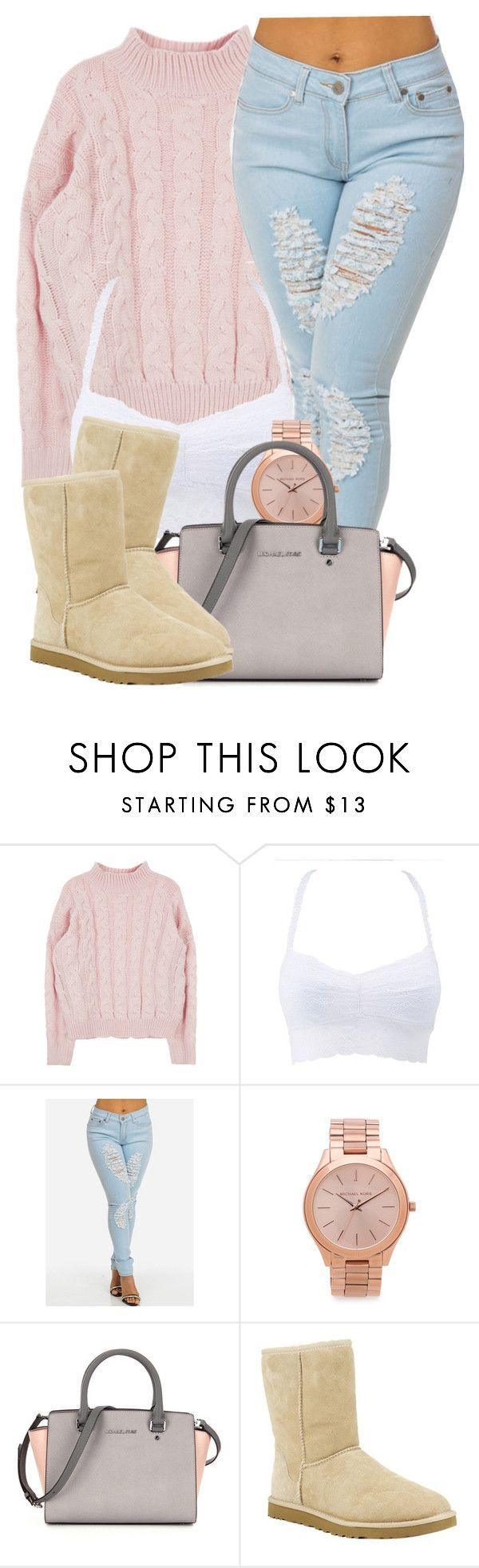 2|2|16 by miizz-starburst ❤ liked on Polyvore featuring Charlotte Russe, Michael Kors, UGG Australia, womens clothing, women, female, woman, misses and juniors
