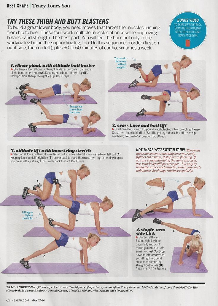 Excellent Tracy Anderson Workout For Legs Glutes In Health Magazine Www Brooklynfitchick Com Tracy Anderson Workout Leg Workout Tracy Anderson