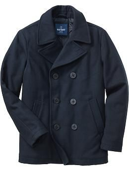 Old Navy Mens Wool-Blend Pea Coats... On sale now for only $47.50!!