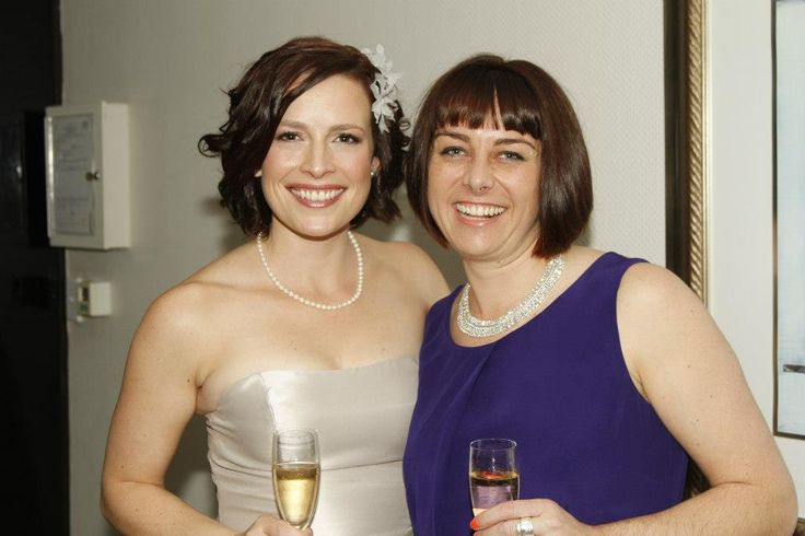 Mandy and her maid of honour in NZ