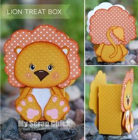 Lion Treat Box with Backside: click to enlarge