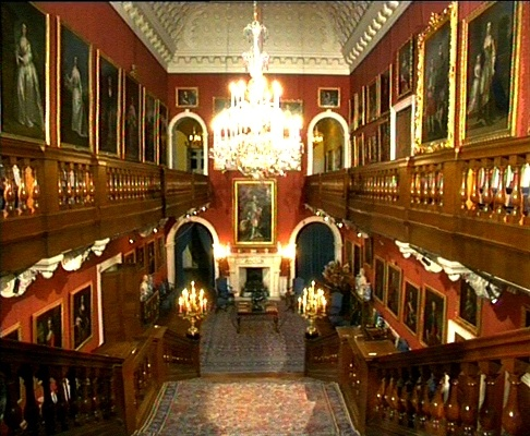 The Saloon at Althorp, Princess Diana's family home.