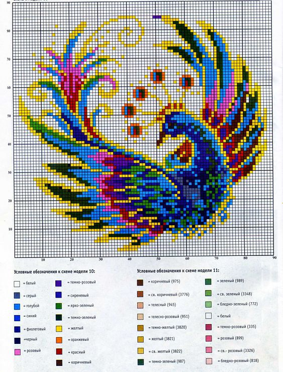 Cross-stitch Bird of Paradise... Gallery.ru / Фото #23 - Отшитые схемы 1 - livadika