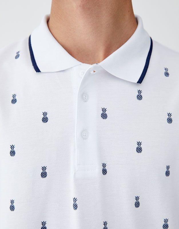 3cbbb54c All-over print piqué polo shirt in 2019 | A.O. | Pique polo shirt ...
