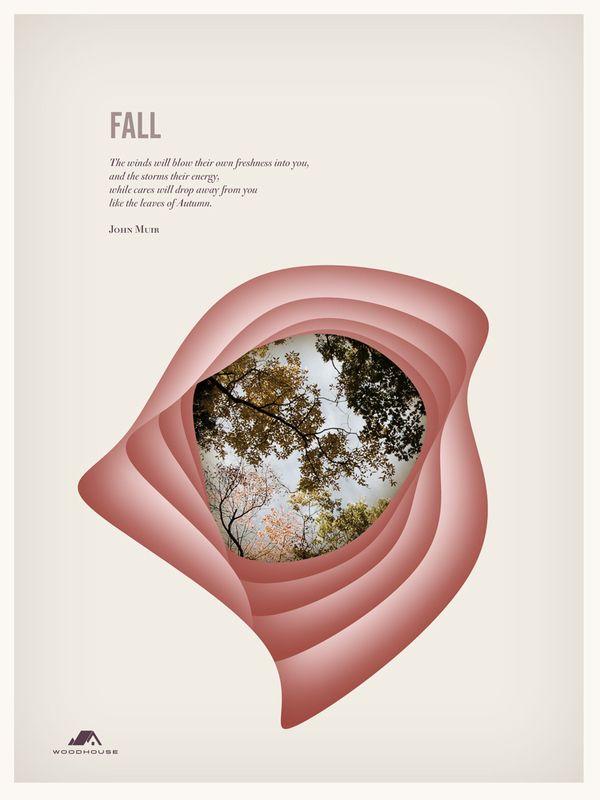 The Four Seasons by Woodhouse , via Behance