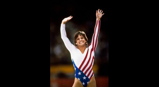 Gymnast Mary Lou Retton at the 1984 Summer Olympics in Los Angeles. (Neil Leifer/Sports Illustrated)
