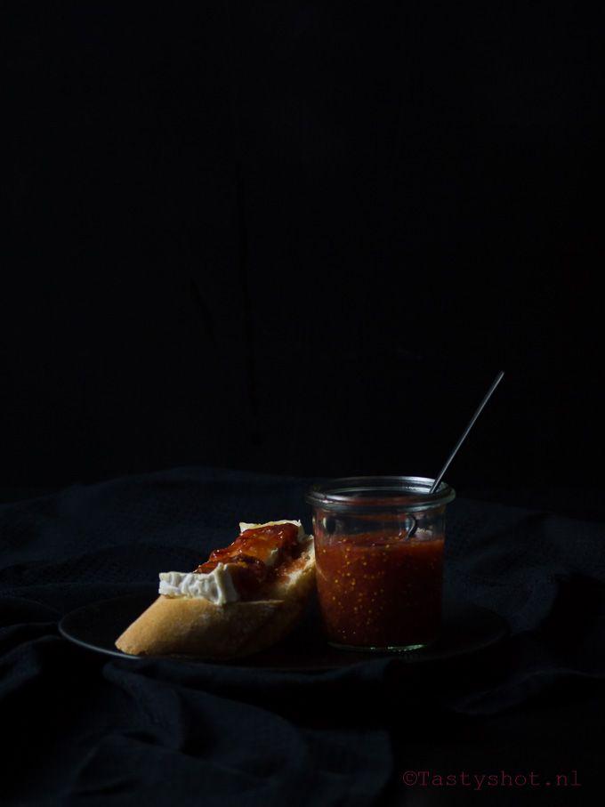 Vijgenjam met balsamico recept. © www.tastyshot.nl
