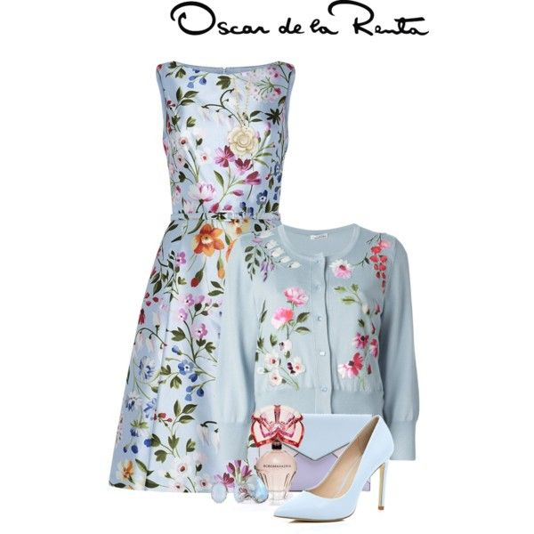 A fashion look from January 2015 featuring Oscar de la Renta dresses, Oscar de la Renta cardigans and River Island pumps. Browse and shop related looks.