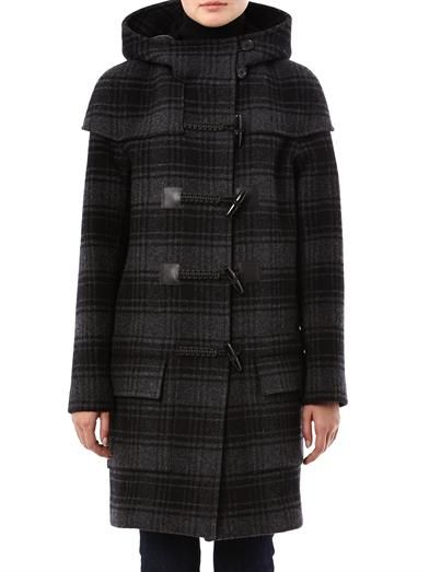 CHRISTOPHER RAEBURN Check wool duffel coat (167465)