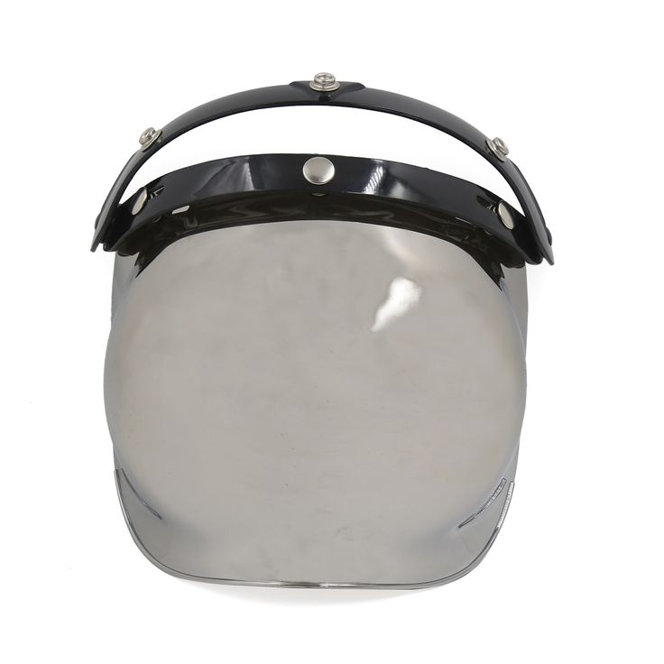 Mirrored-Bubble-3-Snap-Motorcycle-Helmet-Visor-Flip-Up-Wind-Face-Shield-Lens