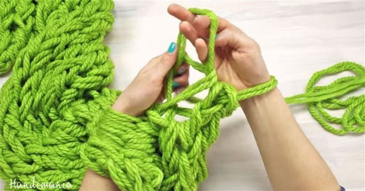 She Takes Some Yarn And Starts To Knit With Her Arms. The Result