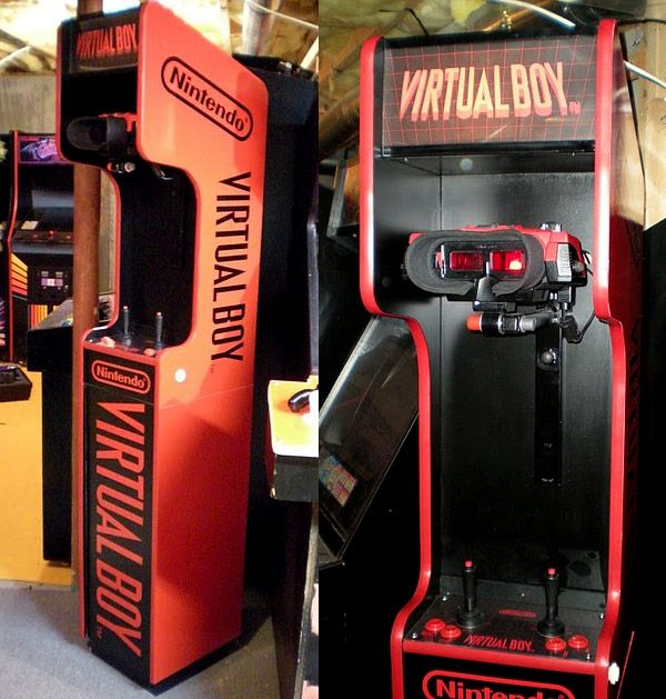 Custom Virtual Boy arcade cabinet! I might have kept mine if I had one of these.