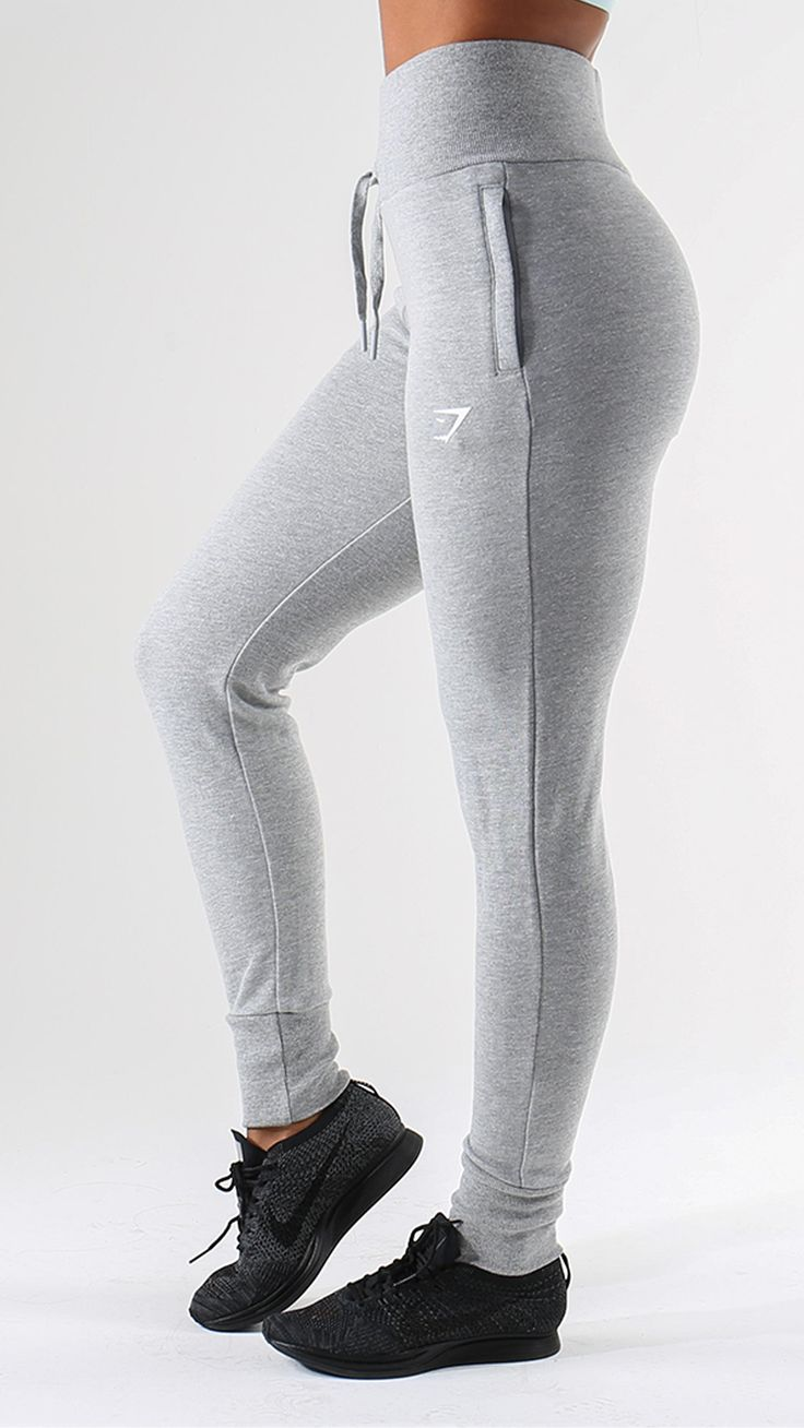 Get luxurious comfort from the High Waisted Joggers. Tailored for a high waisted and figure hugging fit.