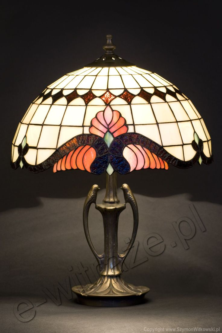 Louis Comfort Tiffany Studios New York Unique Baroque Table Lamp,  Handcrafted By Wieniawa Piasecki