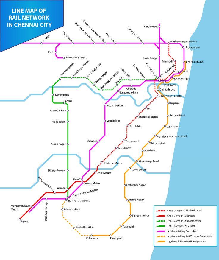 Chennai es la capital del estado indio de Tamil Nadu. Es la séptima ciudad más grande de la India en incorporar un sistema de metro. #chennai #metro #india