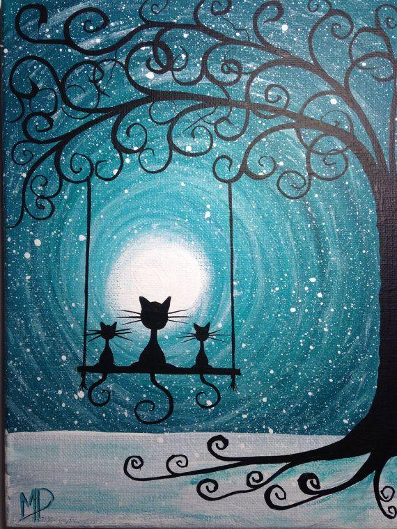 Bonita noche de gatitos