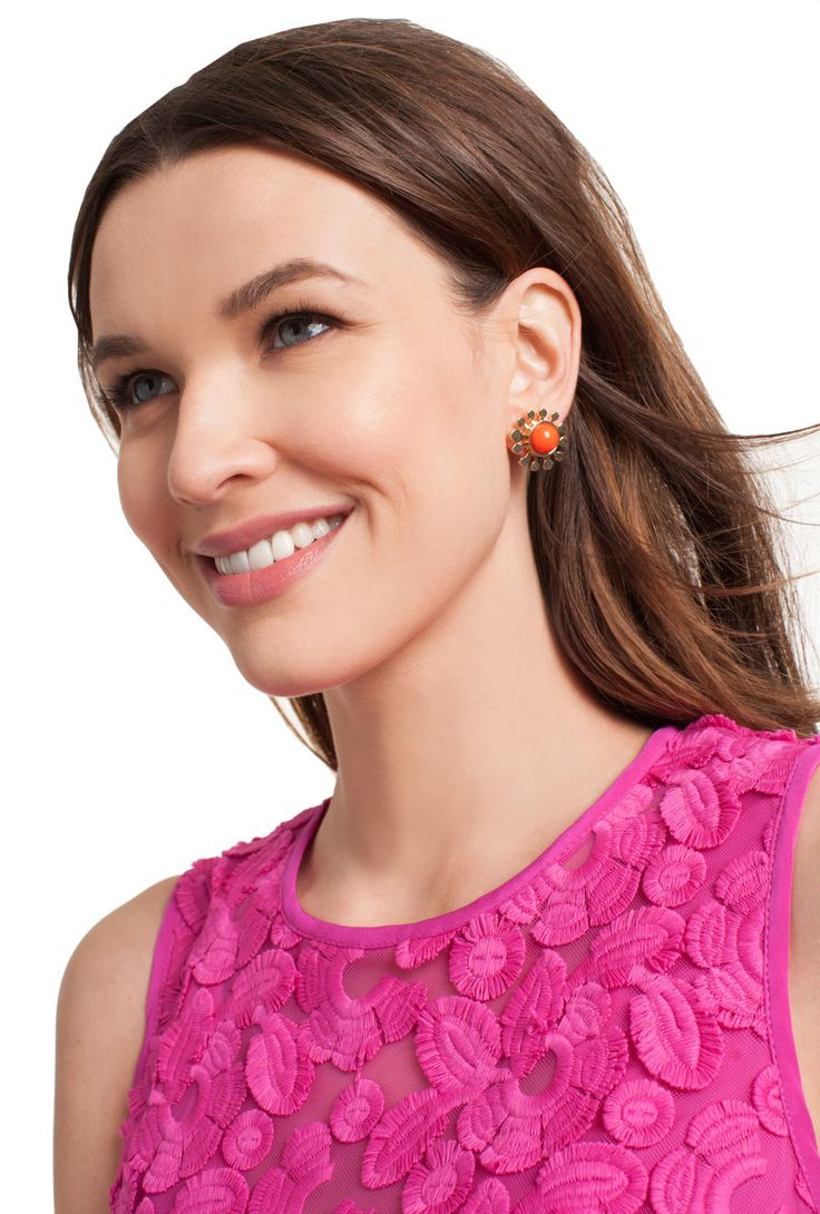 INDIAN CANYON FLOWER STUD EARRINGS - Trina Turk