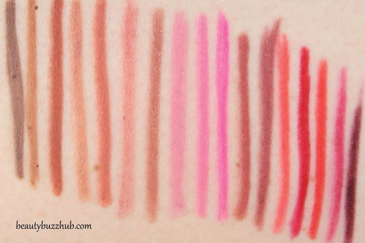 BeautyBuzzHub: MAC Lip Pencil Swatches & Photos MAC Lip Pencil - swatches from left to right: stone, oak, spice, subculture, boldly bare, dervish, whirl, hip n' happy, silly, embrace me, soar, half red, ablaze, cherry, redd, beet, nightmoth