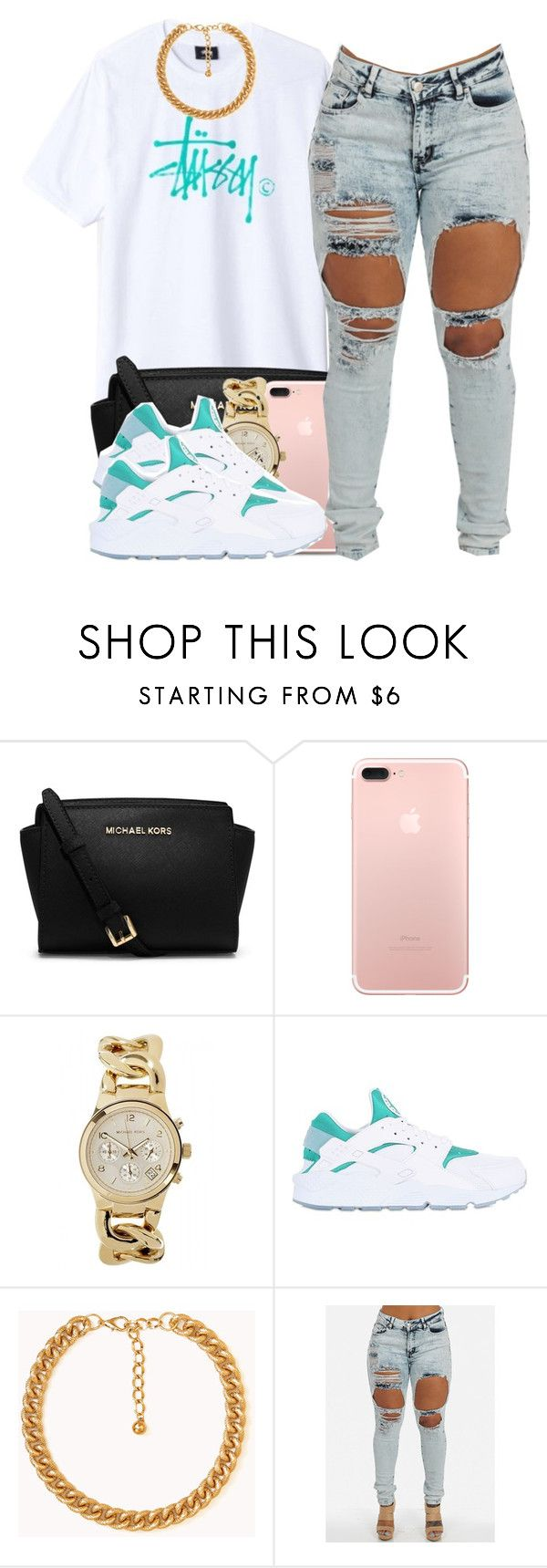"""Stussy"" by polyvoreitems5 ❤ liked on Polyvore featuring Michael Kors, NIKE and Forever 21"