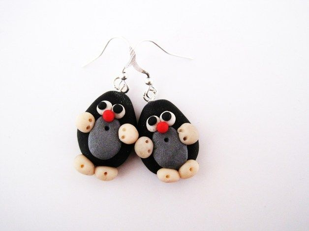 Niedliche Maulwurf Ohrringe / cute mole earrings via DaWanda.com