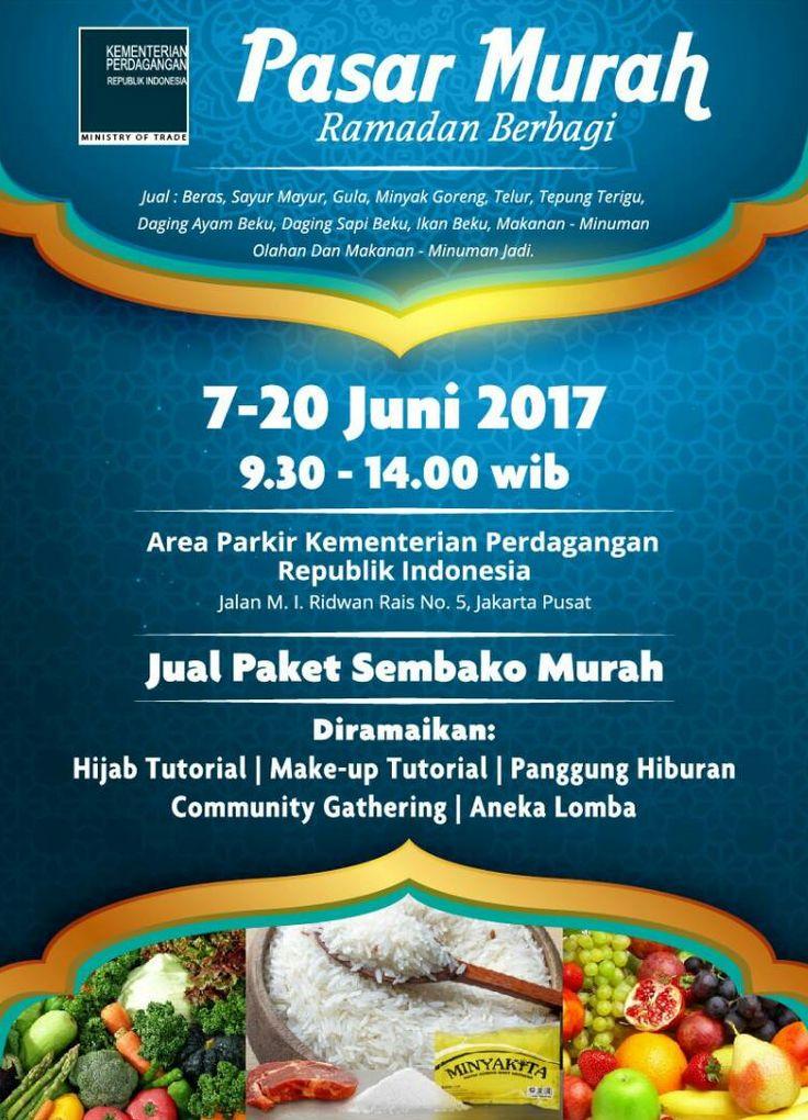 bazar dan pasar murah kemendag ramadhan 1438h jakarta