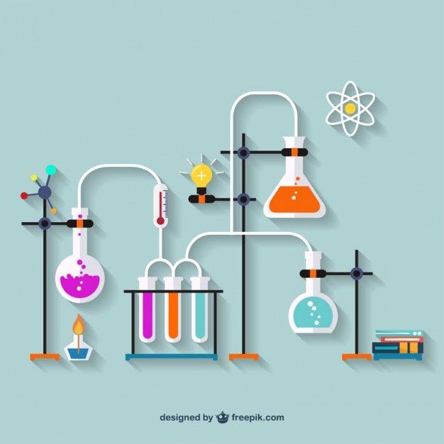 Laboratório de química Vetor grátis