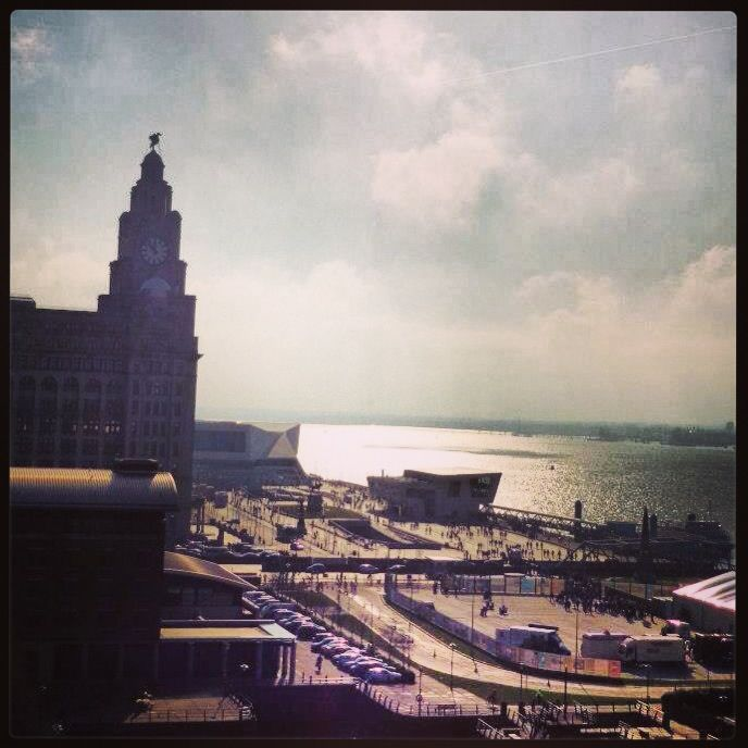 Liverpool Liver Building & River Mersey