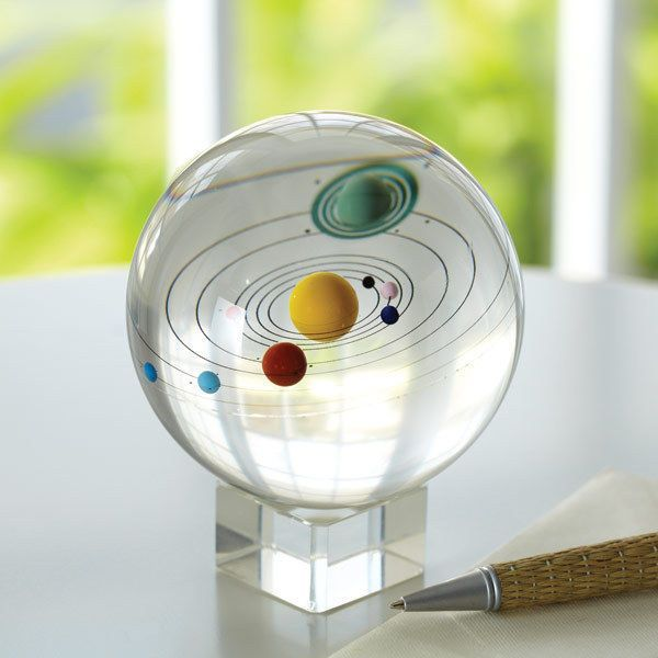 Glass Sphere Paperweight | Solar System Sphere Glass Paperweight