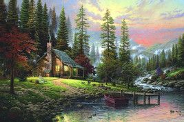 Froo www.froo.com Froo Cross Sell, Free Cross Sell, Cross promote, Marketing, listing Apps, Apps, Application Thomas Kinkade A Peaceful Retreat Cross Stitch Pattern***L@@K*** I SEND WORLD-WIDE Free (PLEASE READ) THE ENTIRE PAGE CAREFULLY BE...