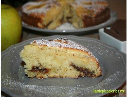 Torta di mela e cioccolato http://www.lemiepiccolericette.it/products/torta-di-mele-e-cioccolato/