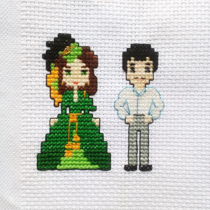 Scarlett O'Hara Rhett Butler Cross Stitch Pattern PDF Gone With The Wind Old Movie Scene Vivien Leigh Green Curtain Dress Embroidery DIYs by LakeviewNeedlework on Etsy