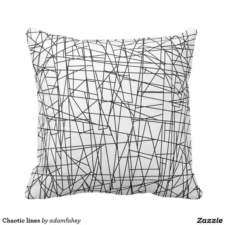 Chaotic lines throw pillow