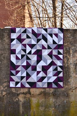 """Fantastic color choices in this """"Purple and Gray Quilt"""" by Layanna L of Purple Panda Quilts."""