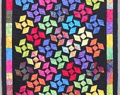 Quilt Patterns - California Dreaming EASY Quilt Pattern uses Layer Cakes or Charm Squares pdf version  also available. $9.00, via Etsy.
