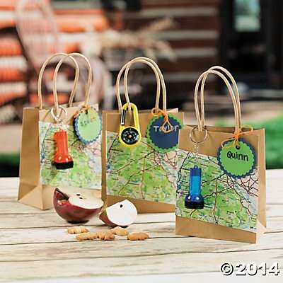Bags - survival kit - like the idea map (use bible verses are our map), prayer is our compass,  flashlight is Jesus - lighting our way.  Navigating life.