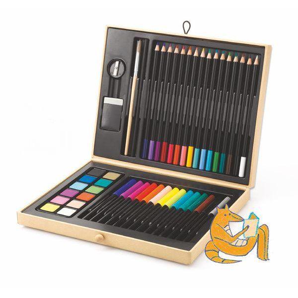 Boite De Couleurs Djeco Crayon Feutre Boite Taille Crayon