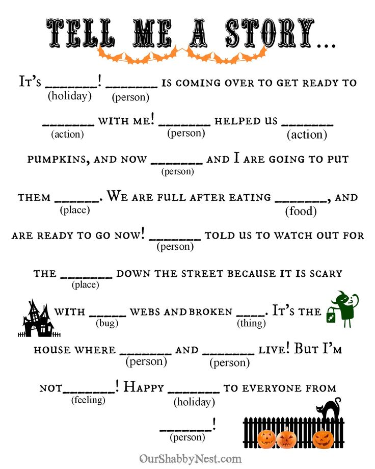 This is a picture of Crush Mad Libs for Kids Printable