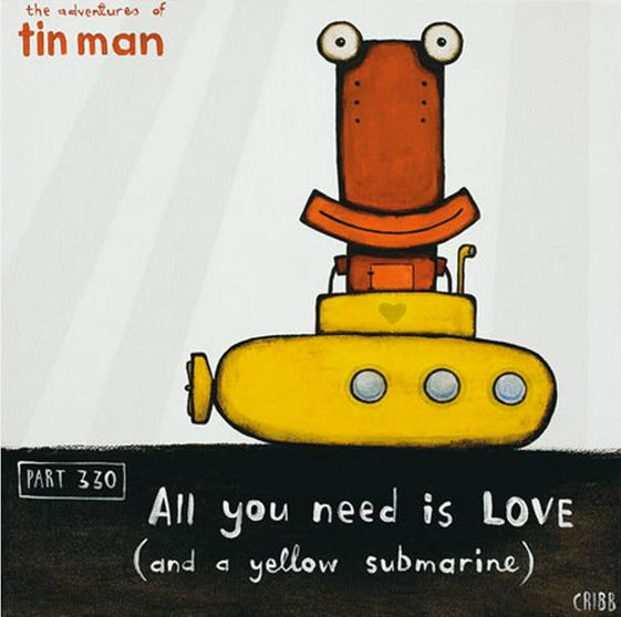 All You Need Is Love ... and a yellow submarine. Tony Cribb - imagevault.co.nz