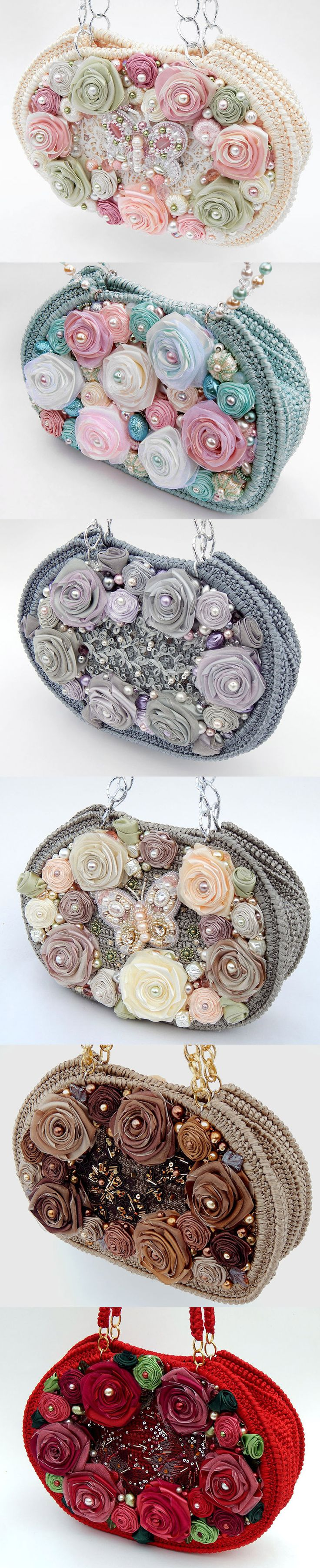 Delightful purses with hand embroidery by Irina Shoubina