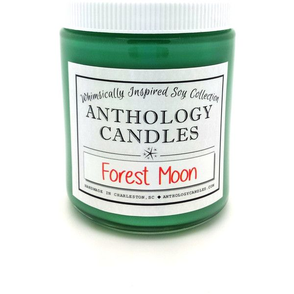 Forest Moon Candle Anthology Candles Whimsically Inspired Candle Movie... ($16) ❤ liked on Polyvore featuring home, home decor, candles & candleholders, candles, candles & holders, container candles, home & living, home décor, silver and wick candles