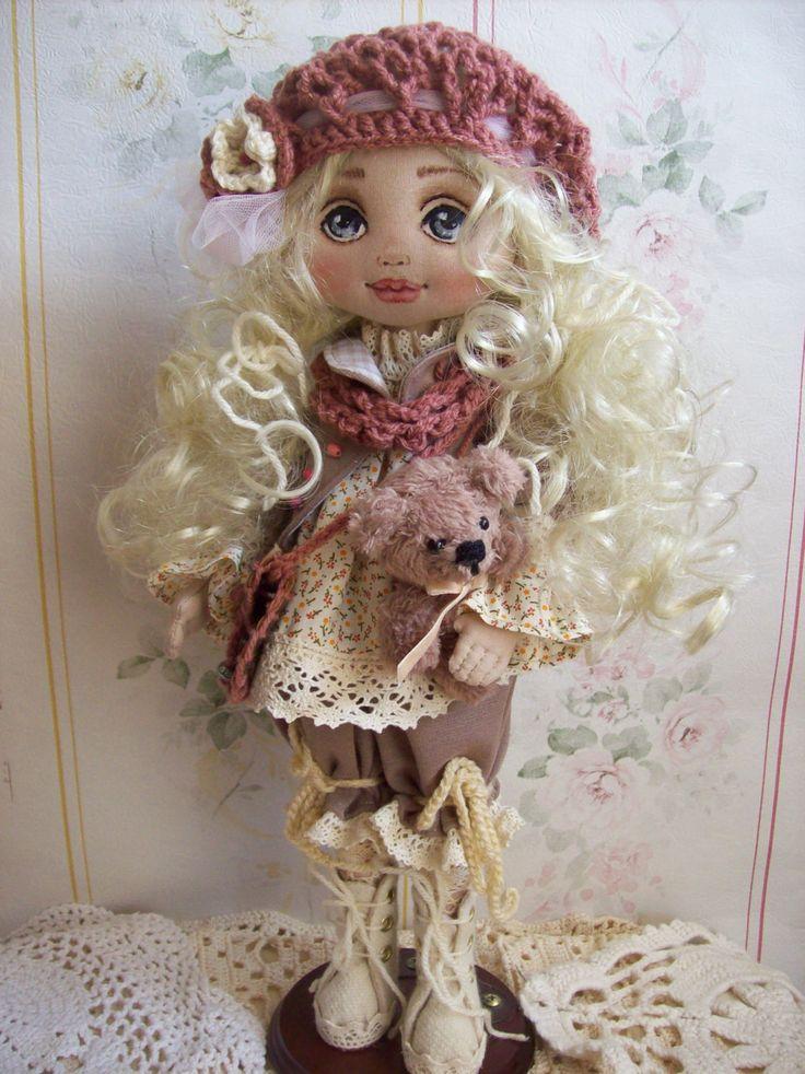 Текстильная кукла Искусство куклы ткани куклы Домашний декор от TrixiCreation