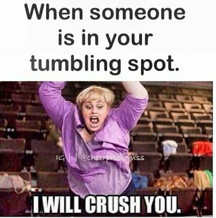 Yes! If your around someone that is cheering or tumbling get out of the way!