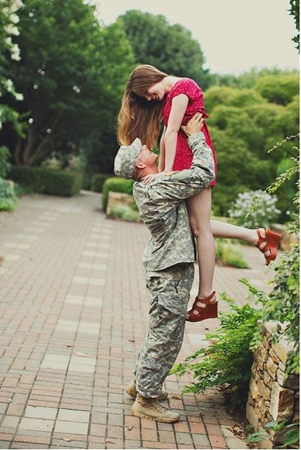 Romantic military engagement. Photo by Ginny Corbett Photography. www.wedsociety.com #engagement #photo