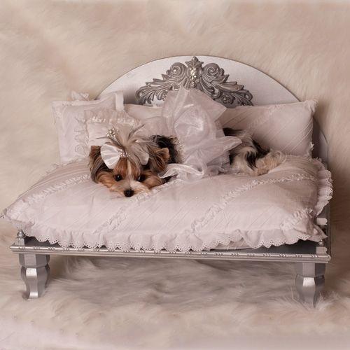 Demetria Designer Dog Bed: The Classy Dog - Designer Dog Clothes, Luxury Dog Beds